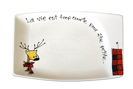 Collection Anou, assiette cerf