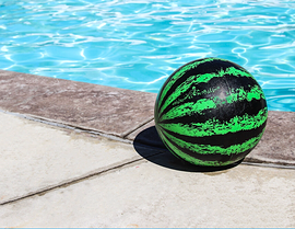 "Ballon melon d'eau, ""Watermelon ball"""