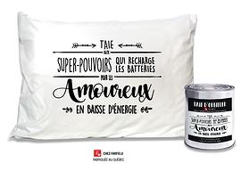 Taie d'oreiller Super Pouvoirs (...) Pour les Amoureux