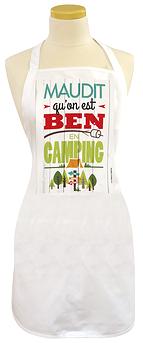Tablier, maudit qu'on est ben en camping