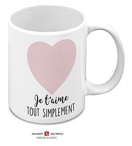 Tasse Je T'aime Tout Simplement rose