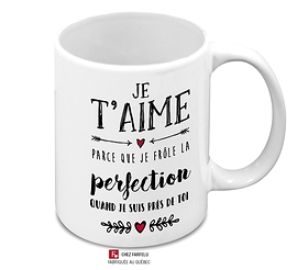 Tasse Je t'Aime (...) Perfection