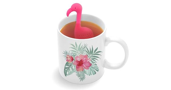 Infuseur th tropic tea flamant rose chez farfelu for Accessoires salle de bain montreal