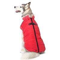 Manteau hiver harnais  rouge