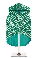Manteau de pluie vert picoté