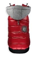 Veste puffy de sport style rouge