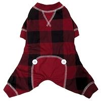 Pyjama carreauté rouge