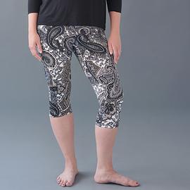 Legging paisley gris - longueur capri