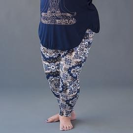Legging mandala floral marine - Collection rondeurs
