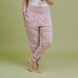 Pantalon molletonné - vieux rose