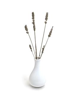 Vase de verre blanc