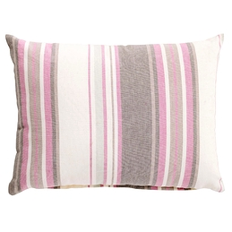 Coussin rayé rose