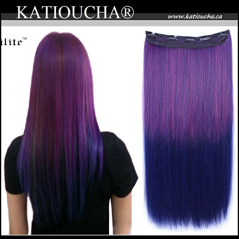 Clip In Hair Extension Straight Hair 60 Cm 24 120g Ombre