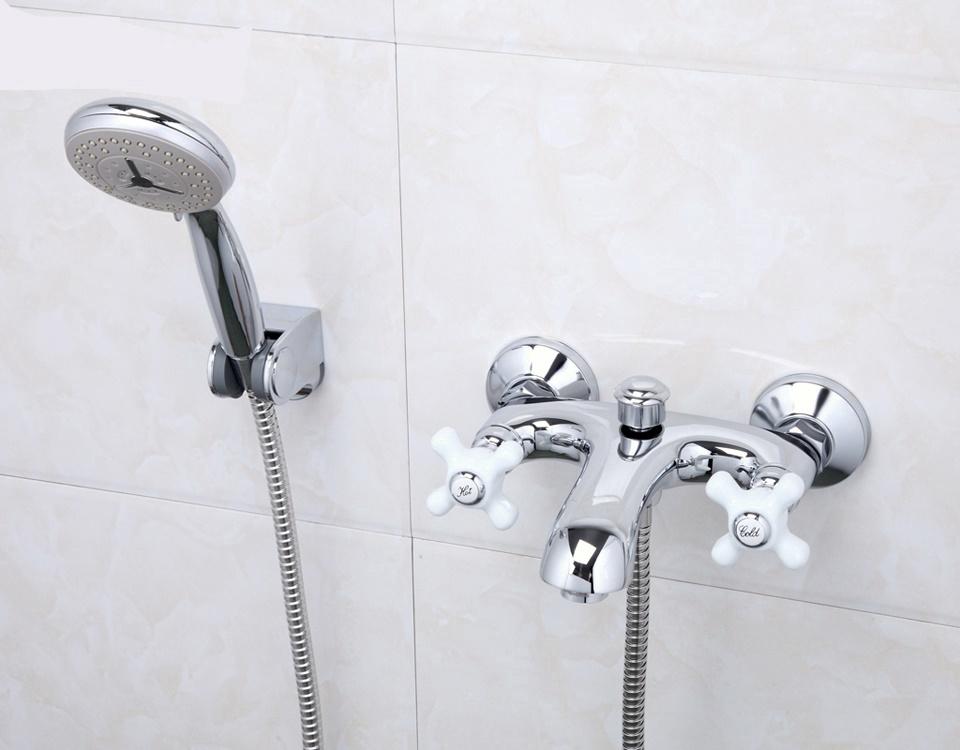 End Bathtub Shower Faucet set - Ideal for Antique Bathtub