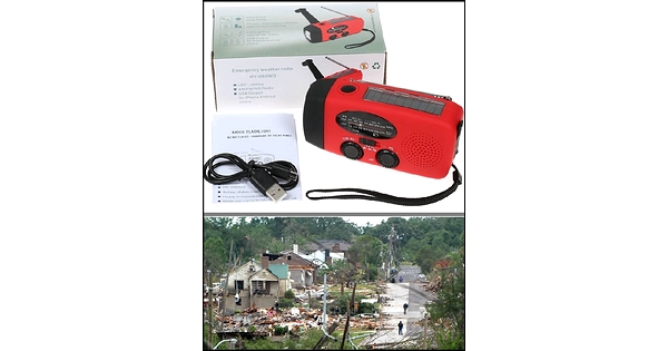 Emergency Survival Waterproof Portable Solar Radio Hand
