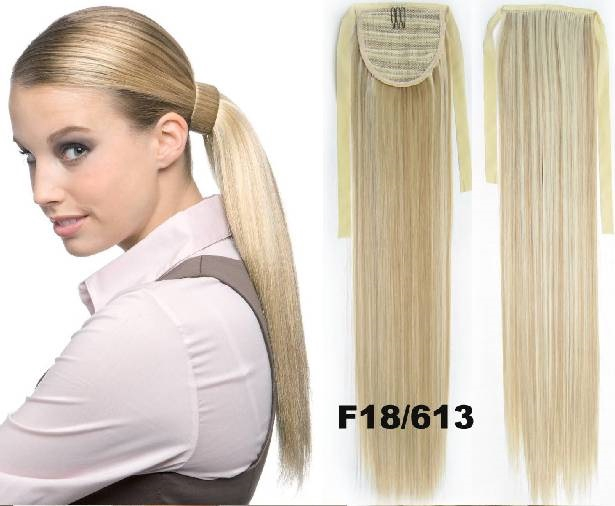 Ponytail Hair Extension Straight Hair 55 Cm 22 Colors Blonds B