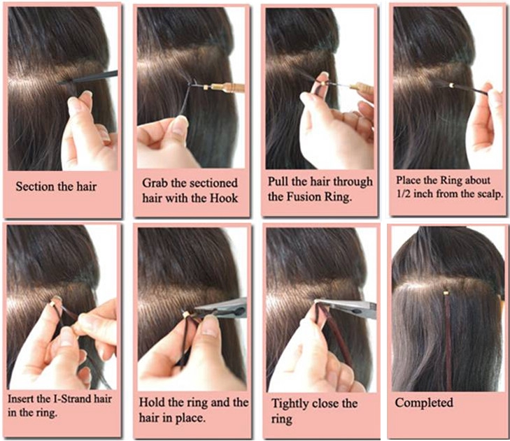 Professionnal Micro Loop Ring Hair Extensions Tool Kit 3 Pieces