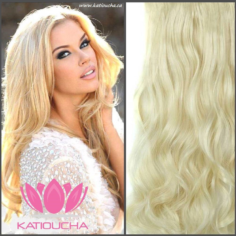 Clip In Hair Extension Loose Curl Wavy Curly Hair 60 Cm 24blonde