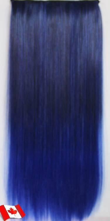 Clip in hair extension straight hair 60 cm 24 120g color dark bl clip in hair extension straight hair 60 cm 24 120g pmusecretfo Images