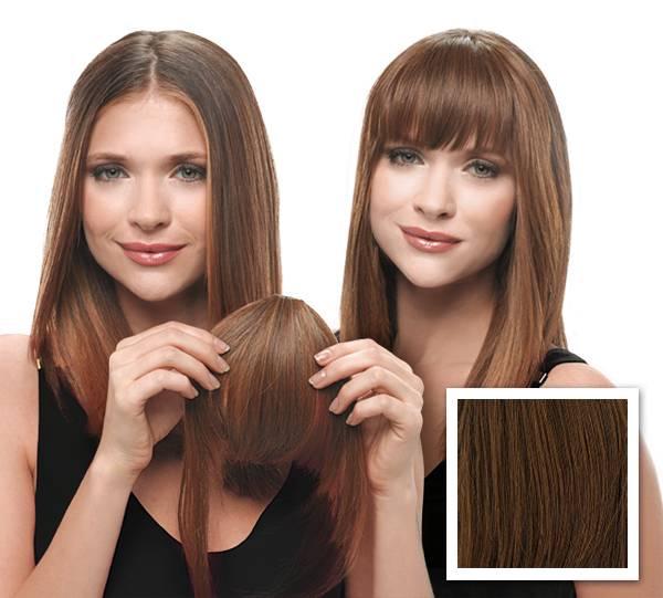 Clip In Hair Fringe Black Dark Brown Light Brown