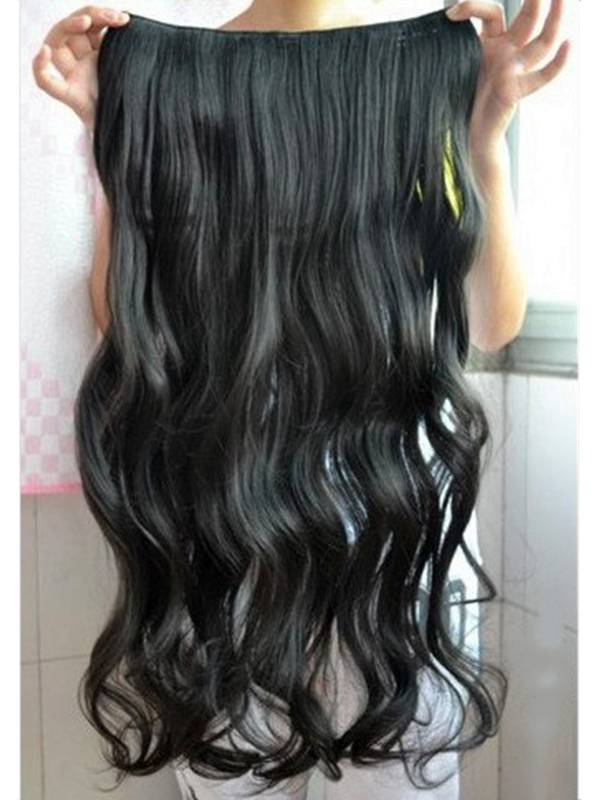 Clip in hair extension loose curl wavy curly hair 60 cm 24 jet 24 clip in hair extension loose curl wavy curly hair 60 cm pmusecretfo Choice Image