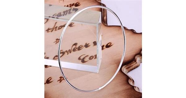 3 Bracelets Set Silver Sterling Width 1 5 Mm Diameter