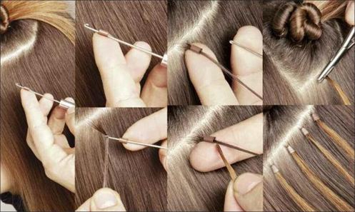 Professionnal micro loop ring hair extensions tool kit 3 pieces pmusecretfo Images