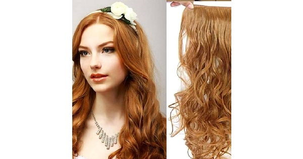 Clip In Hair Extension Wavy Curly Hair 60 Cm 24