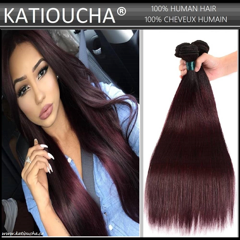 100 Remy Human Hair Extensions 8a Weft Weave Bundle Ombre