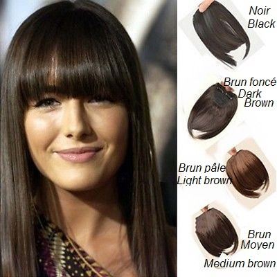 Clip in hair fringe black dark brown light brown clip in hair fringe black dark brown medium brown light brown auburn urmus Gallery
