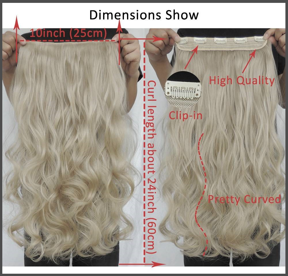 Clip in hair extension loose curl wavy curly hair 60 cm 24 ash b 24 clip in hair extension loose curl wavy curly hair 60 cm pmusecretfo Choice Image