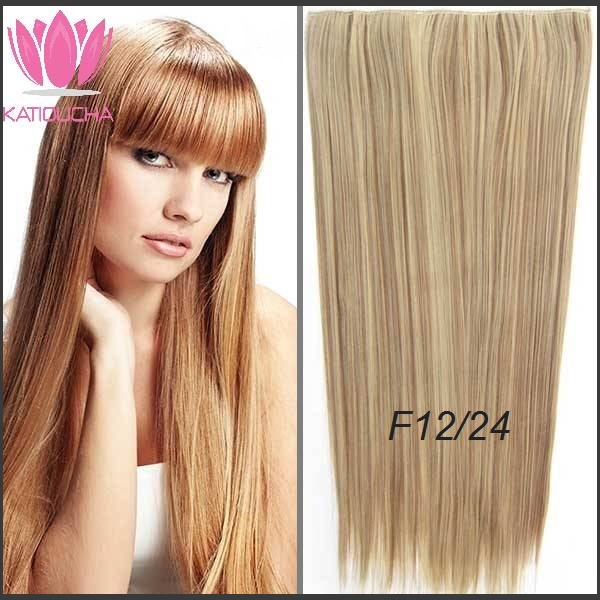 Clip In Hair Extension Straight Hair 60 Cm 24 Color F1224