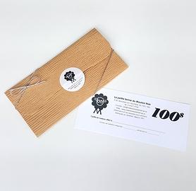 Certificat-cadeau de 100$