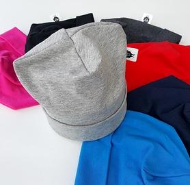 Bonnet en tricot uni