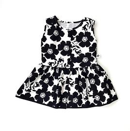 Robe d'été fleurs noires