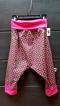 Pantalon évolutif 6-24 mois - géométrique rose