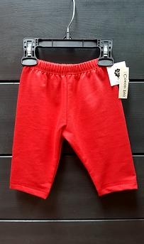 Pantalon yoga bio rouge bébé