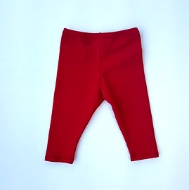 Legging coton rouge