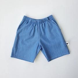 Bermuda jean's léger bleu