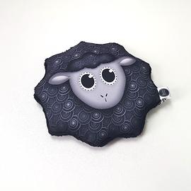 Bouillotte sèche mouton noir