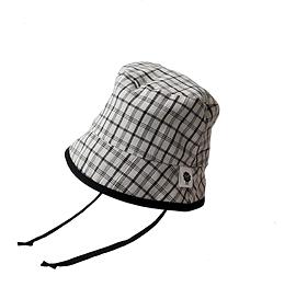Chapeau Bob carreaux noirs et blancs