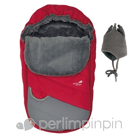 Couvre-siège hiver rouge Perlimpinpin