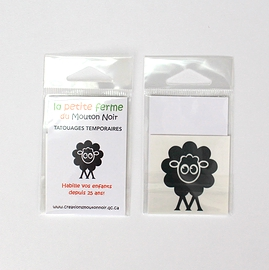 Tatouage temporaire logo ''Mouton Noir''