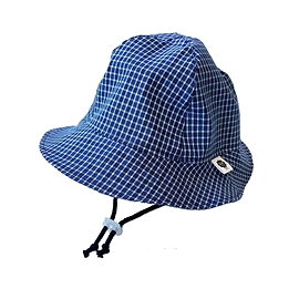 Chapeau de soleil jean's carreaux