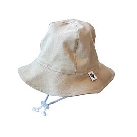 Chapeau de soleil coton/lin sable