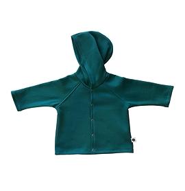 Veste coton ouatée bleu-vert - unisexe