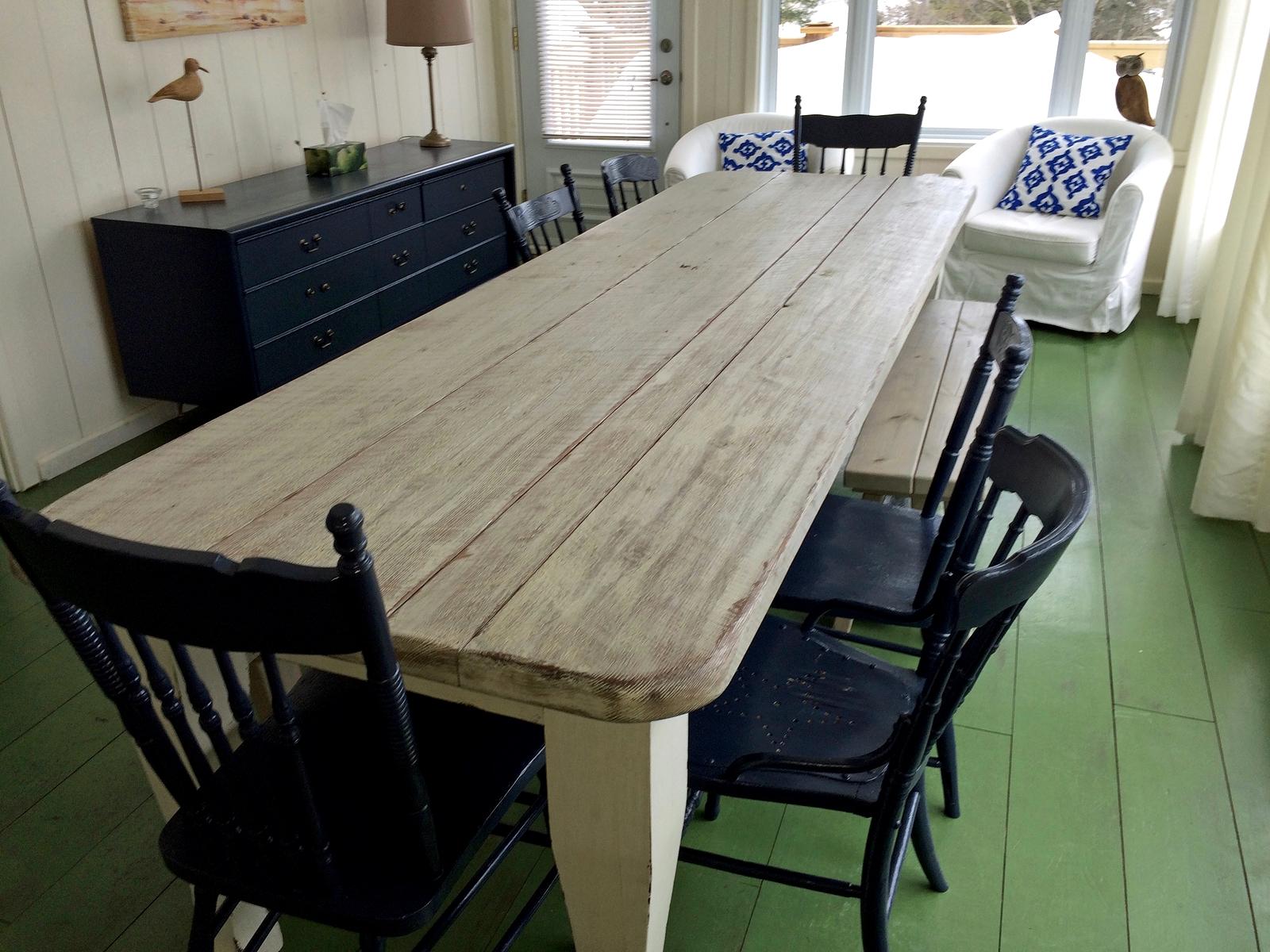 Table sur mesure salle a manger cuisine antique lanaudiere - Table a manger sur mesure ...