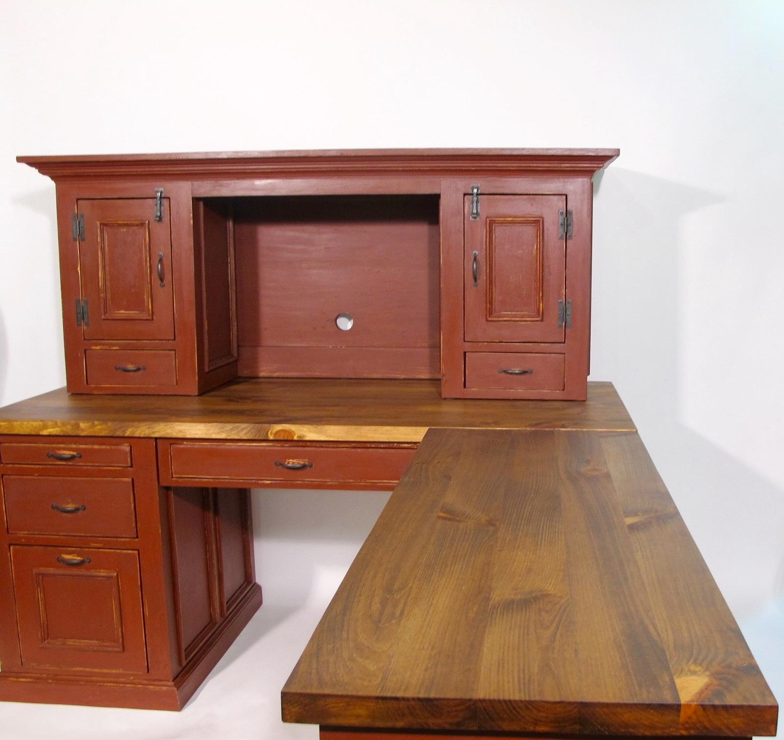 bureau de travail sur mesure antique ancien peinture de lait lanaudier. Black Bedroom Furniture Sets. Home Design Ideas