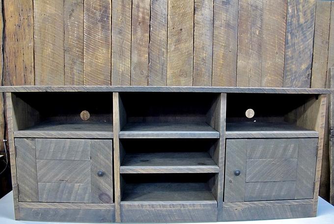 meuble t l en bois brut 60x25x16. Black Bedroom Furniture Sets. Home Design Ideas