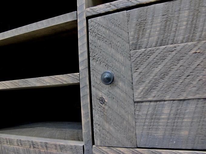 Meuble t l en bois brut 60x25x16 for Restauration meuble bois
